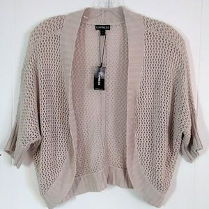 Express Beige Shrug Size Small